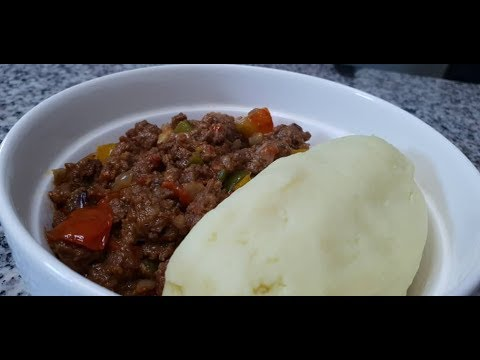 How to Prepare: Mashed Potatoes and Meat Sauce