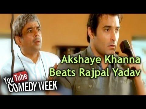 Most Viewed Comedy Scene - Akshaye Khanna Beats Rajpal Yadav - Mere Baap Pehle Aap