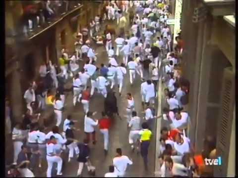 Encierro de San Fermín   13 de julio de 1996 480p