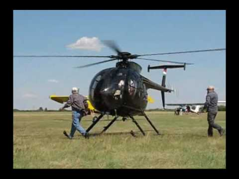 Hughes / MD 500 HA-RTL helicopter / Engine start / takeoff - landing / Budaörs RNA DAY