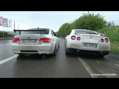 VERY LOUD Meisterschaft Nissan R35 GT-R vs BMW E92 M3 w/ SuperSprint Exhaust!