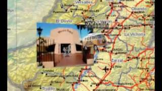 Mapa animado para llegar a Toro,Valle del cauca colombia.