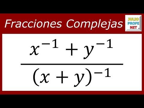 Simplificación de una Fracción Compleja con exponentes negativos