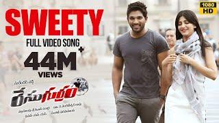 Race Gurram Songs  Sweety Sweety Video Song  Allu Arjun, Shruti hassan, S.S Thaman