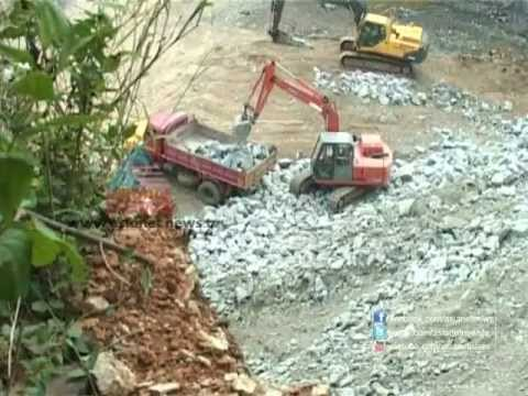 Kannadi 27th Oct 2012 Rock Quarry unit becomes an environmental issue  at Desamangalam, Thrissur