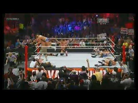 WWE Royal Rumble 2013 match   Ryback, John Cena, Dolph Ziggler, Chris Jericho, Randy Orton wwe13