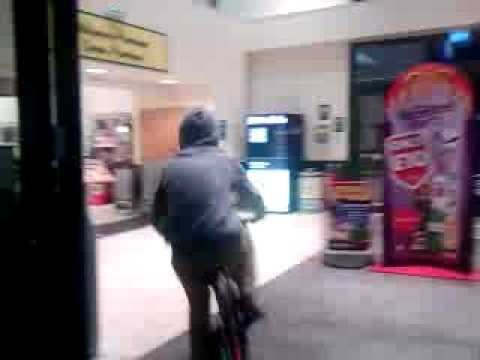 Joe Roach Rides n Skids Bike In Connahs Quay's Morrisons