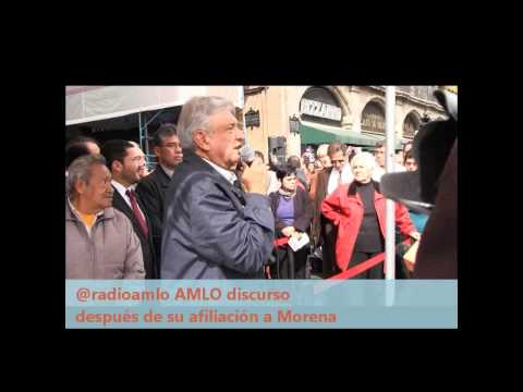 Afiliacin de Andrs Manuel Lpez Obrador #AMLO a Morena
