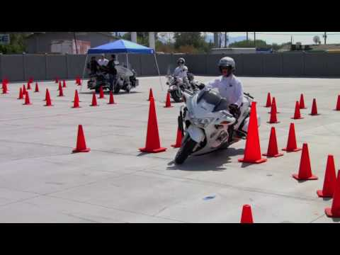 Fast Honda ST1300 Police Bike in Competition