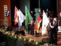 Entrada da  bandeira, e ino Nacional Brasileiro no, 23º congresso de Missões Gideões /RS.