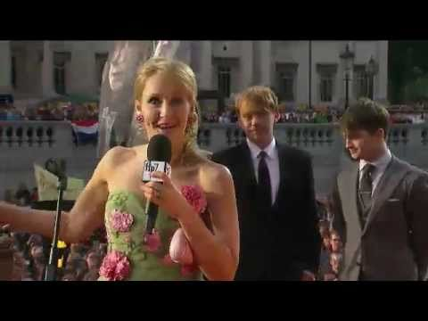 The Harry Potter premiere red carpet event Video of Daniel Radcliffe &amp; J.K. Rowling and all