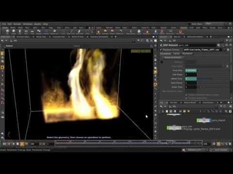 Houdini | Pyro FX - Simulation Cache
