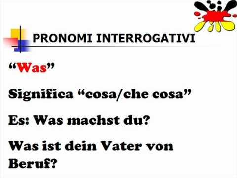 Lezioni di tedesco 22- pronomi interrogativi