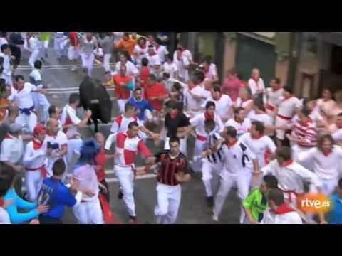 Quinto encierro de San Fermín 2011. 11-07-2011