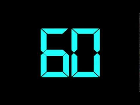 60 Second Timer Countdown Digital Blue