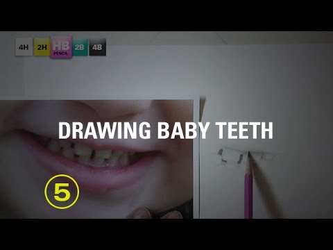 Tips on Drawing Mouths No. 6: Baby Teeth