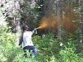 Firing off bear spray