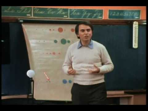 Carl Sagan teaching school children about the Universe