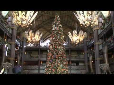 Disney's Animal Kingdom Lodge Christmas Tree and Gingerbread Decorating 12/23/11