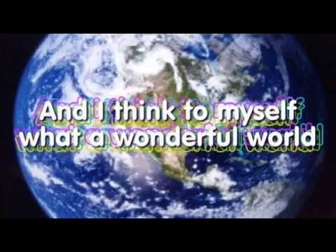 WHAT A  WONDERFUL WORLD KARAOKE Louis Armstrong instrumental lyrics video and no vocals