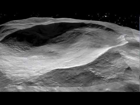 Virtual Flight Over Asteroid Vesta and It's Craters - Dawn Mission NASA Video Hd