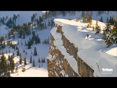 World Record Ski Jump - 255 Foot Cliff