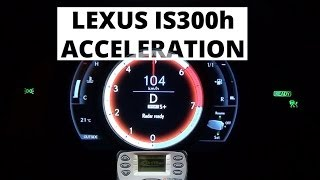 Lexus IS 300h 223 KM - acceleration 0-100 km/h