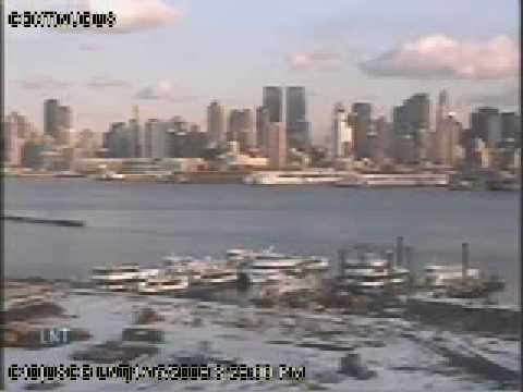Coast Guard Footage of the US Airways Flight 1549 Landing in Hudson River,NY