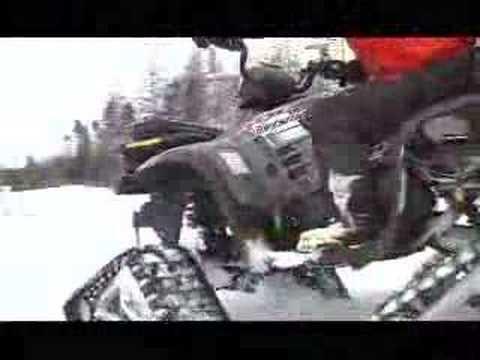 6x6 atv in deep snow