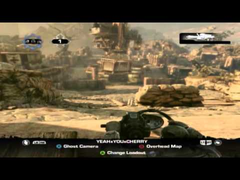 Gears of War 3 w/ MisterWah Part 2: I CAN-T SEE! (Gameplay/Commentary)
