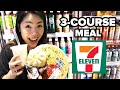 eating a 3-course meal at 7-eleven