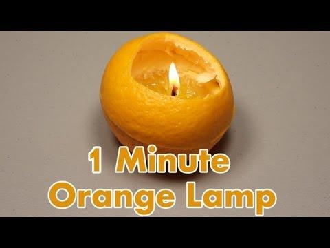 كيف تصنع مصباح من الرتقال في دقيقة