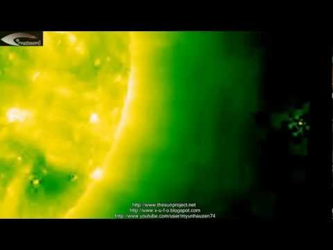 Many different types of UFOs, near the Sun in the pictures NASA - Review February 25, 2013.