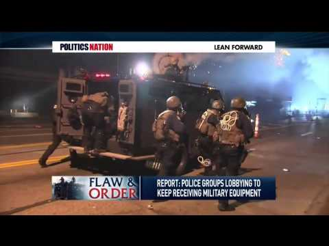 Cummings discusses the negative effects of    (police militarization)  9/2/14