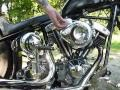 Harley Davidson Chopper Oldschool Seventies Shovel Straightleg 1956