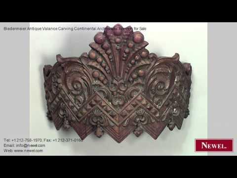 Biedermeier Antique Valance Carving Continental Architectura
