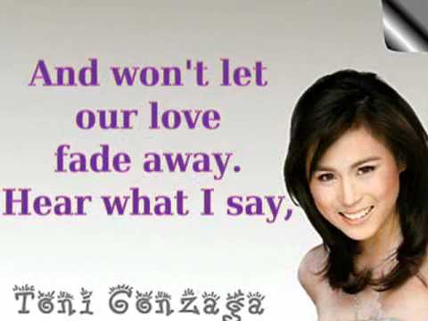 Can't Help Myself by Toni Gonzaga Lyrics --fFb5_DgVvQ