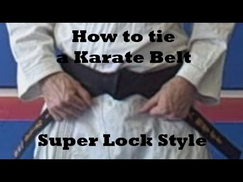 How to tie a karate belt - Super Lock Style