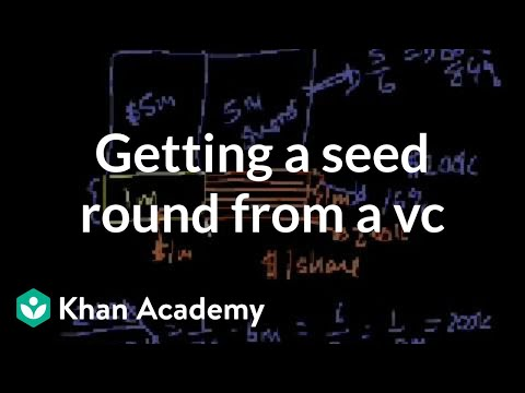 Getting a seed round from a VC