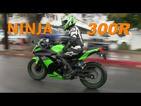 2013 Kawasaki NINJA 300 Special Edition w/ ABS - Street Riding in the Rain :-)