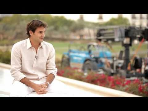 Roger Federer Relaxes Amid Frenzied TV Shoot