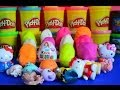 12 Play-doh Kinder Surprise Eggs Peppa Pig Hello Kitty LPS McQueen Thomas And Friends Disney