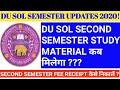 DU SOL STUDY MATERIAL 2020! DU SOL SECOND SEMESTER STUDY MATERIAL 2020! DU SOL FEE RECEIPT 2020!