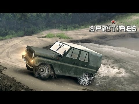 Spin Tires 2013 Tech Demo Update - UAZ Jeep Test Drive Part 5