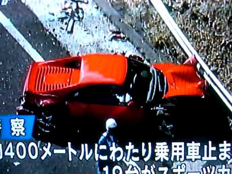 FERRARI CRASH 2011 Japan Highway 250 Daytona 365 F355