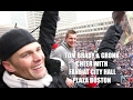 Patriots Tom Brady, Rob Gronkowski cheer with thousands at Boston City Hall