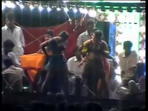 Andhra village record romantic dance new stage record dance 2015