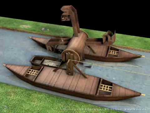 Draga cavafango (Mud dredge) di Leonardo da Vinci