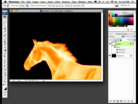 Photoshop Tutorial ||| Fire Brushes