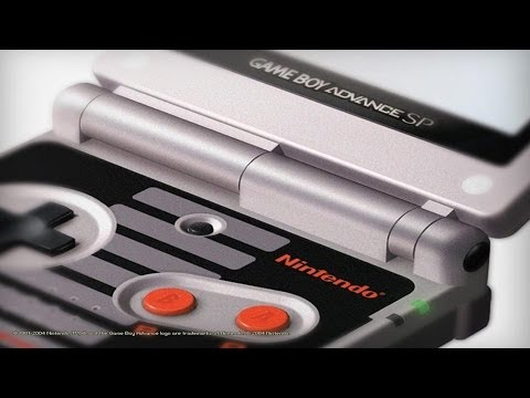 Classic NES Limited Edition Gameboy Advance SP Unboxing